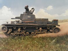An adorable little Panzer 35(t) races across France in the German Blitzkrieg style of warfare!