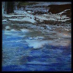 """Wasser Sinfonie"""" Acryl auf Leinwand mit perfekte Holz rahmen dazu! 100 x 100  Jahr 2012 Artist Gordana Veljacic Graz"""