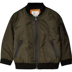 Mini boys khaki bomber jacket £25.00