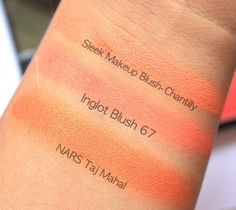 Favorite True Orange Blushes,Orange Blush,Orange Blush India,Blush For Brown Skin,Nars Taj Mahal,Inglot AMC Blush 67,Orange Powder Blush,Favorite Orange Blush,Sleek Blush By 3 Lace,Sleek Chantilly Blush,Orange Blush Swatches