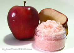 Red Apple Scrub- I think I would use one of my easier scrub recipes and use the apple scent and color- could match with the apple tart soap recipe from bath and body recipes site.