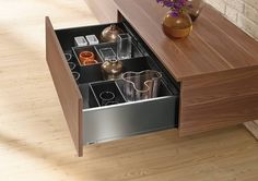 @blum_inc #LEGRABOX is the sleekest new drawer system available today. LEGRABOX is available in two finishes and a wide selection of heights and lengths making it ideal for kitchen bathroom retail and furniture applications. Combine with #AMBIA-LINE organization systems to make your drawers truly functional #kitchenorg #kitchenstorage