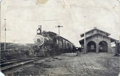 RPPC Train 463 Eastbound at Mountainair, NM.  post marked 15 Feb 1910.  AT engine number 463 was a 4-6-0, 454 class ten wheeler. The Mountainair Santa Fe Depot was built in 1908.