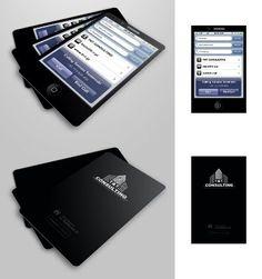 """""""iPhone T Consulting Business Card"""" gefunden auf www.designrshub.com gepinned von der Werbeagentur www.BlickeDeeler.de aus Hamburg"""