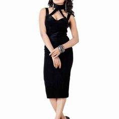 Black Lycra Western Dress