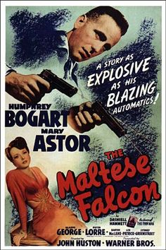 The Maltese Falcon (1941) Humphrey Bogart - Movie Poster https://www.youtube.com/user/PopcornCinemaShow