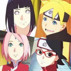 Hinata, Boruto, Sakura e Sarada