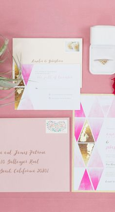 Bold + Modern Pink Wedding Inspiration