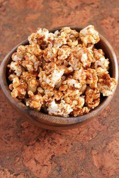 Salted Peanut Butter Caramel Corn #vegan
