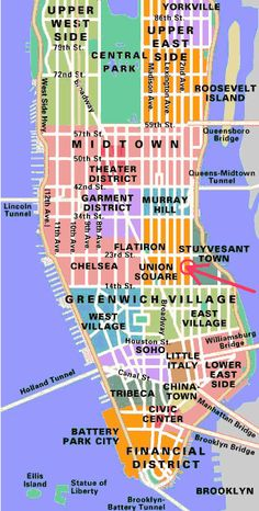 Finding your way around Manhattan – Part 2 – Different neighborhoods of Manhattan
