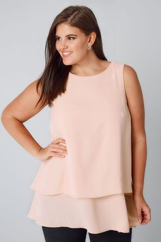 4cecadf5824b Blush Pink Double Layer Longline Top With Dip Hem. Occasion WearOccasion  DressesFashion UpdatesLong A LinePlus ...