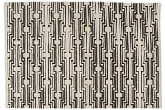 """Aelfie rugs are designed in Brooklyn and handmade by artisans in India. 80% wool, 20% cotton. Spot clean. Vacuum. Due to the nature of handmade goods, colors may differ slightly from the image. For custom orders, please contact us. We ship internationally. Please note, 9'x12' and 2'6""""x8' sizes are all made to order and will arrive in 90 days. Sizes are in feet."""