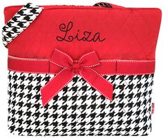 $15.50 Quilted Houndstooth Diaper Bag  (shown with optional personalization)