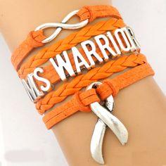 "CUSTOM MADE MS WARRIOR BRACELET     Material:Alloy,Rope. Vegan Leather     Bracelet size: 17cm + 4cm (extend chain)(1 ""= 25.4mm)"