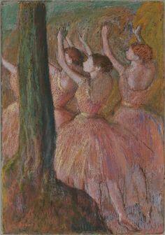 Edgar Degas, Dancers in Rose, c.1900