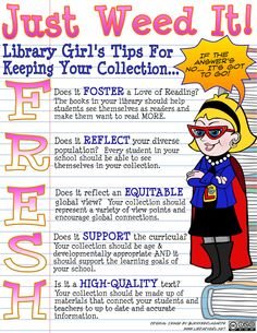 The Adventures of Library Girl: Keeping Your Library Collection Smelling F.R.E.S.H! Weeding your collection