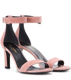 9aae3c94c549 SAINT LAURENT Grace 80 Suede Sandals.  saintlaurent  shoes  sandals Rosa  Sandalen,. Rosa SandalenWildledersandalenWildlederschuhe Mit AbsatzSchuhe  ...