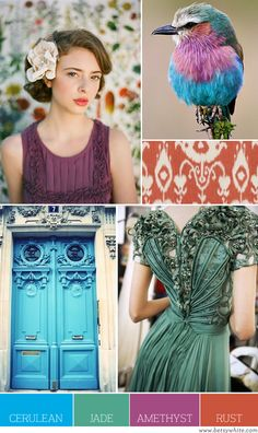 Color Palette: Cerulean, Jade, Amethyst and Rust | Flights of Fancy