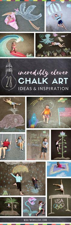 Sidewalk Chalk Art I