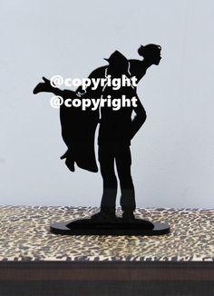 Fireman Firefighter Fire Dept carries Bride wedding cake topper silhouette~Exclusive Design!