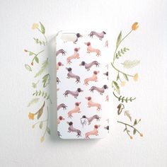 For wiener dog enthusiasts: The Darling Dachshund iPhone Case by Wonder Forest
