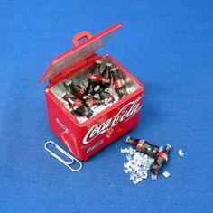 Dollhouse Miniature Coca Cola Cooler Ice Chest U8   eBay
