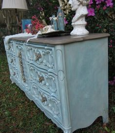 Duck Egg Blue, Old Whiteand Coco. Annie Sloan chalk paint. By Tena Smith Designs.