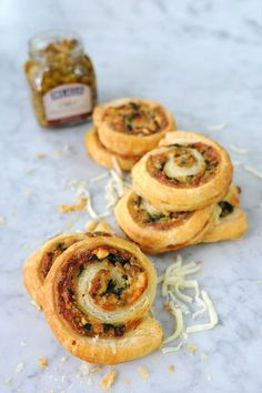 A quick and easy puff pastry recipe using our Olive Bruschetta, spinach leaves, briny feta and a blend of mozzarella and provolone. The perfect savory app Puff Pastry Recipes Savory, Easy Puff Pastry Recipe, Grilled Salmon Recipes, Healthy Salmon Recipes, Hot Appetizers, Appetizer Recipes, Mozzarella, Feta, Puff Pastry Pinwheels