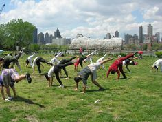 Enjoy free Tai Chi classes in the park. Bryant Park Tai Chi is provided by the Tai Chi Chuan Center and led by teachers and students who train at CK Chu Tai Tai Chi Classes, Riverside Park, Manhattan Skyline, Bryant Park, Workout Programs, Fitness Programs, Long Island City, Socrates, Parka