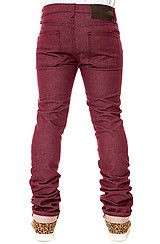 Naked & Famous The Skinny Guy Jeans in Burgundy Stretch