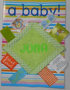 labeldoekje mini groen. www.borduurkoning.nl/shop