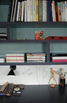 Detail from Home Decor Workspace Design, Office Workspace, Home Office, Modular Bookshelves, Bookcases, Turbulence Deco, Decoration, Room Interior, Future House