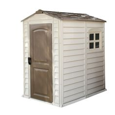 Duramax Woodside 4x6 Plastic Shed With Metal Frame