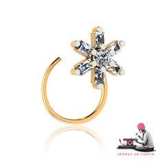 Bloom up with the floral motif #NoseRing!  #JOJ #Handmade #Artisan #BridalJewelry #Love #PinkCity #Jewelry #Women
