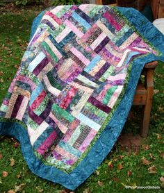 Batik Parfait Patchwork Quilt by PatsPassionQuilteds on Etsy, $175.00