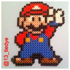 Mario perler beads by 13_tiedye