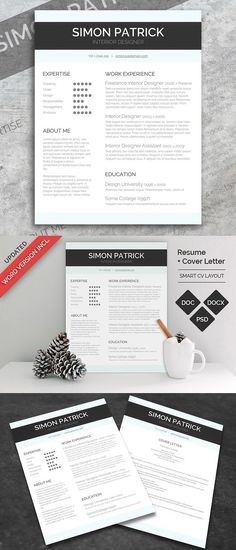 Resume Template for Word Pinterest Template, Professional resume - cover letter sample for job application fresh graduate