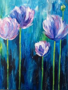 """""""Bloom"""" Sunday, 5-8pm at Mamas on 39 in Huntington Beach. Come paint with us! Register on our website - just click the picture to follow the link!"""