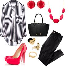 """""""Striped!"""" by claudia-montero on Polyvore"""