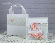 Hello :) Today I have for you a wedding card with lots of Wild Orchid Crafts flowers. Gift Card Boxes, Wild Orchid, Easel Cards, Flower Cards, Cute Cards, Mini Albums, Wedding Cards, Wedding Decorations, Card Making