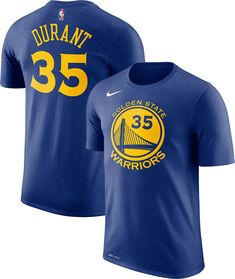 Nike Youth Golden State Warriors Kevin Durant  35 Dri-FIT Royal T-Shirt 51ca3a59a