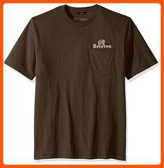 Brixton Men's Tanka Ii Short Sleeve Pocket Tee, Graphite, Large - Mens world (*Amazon Partner-Link)