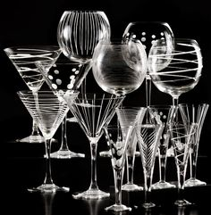 I'm pretty sure if I could master this, I would etch every single piece of glassware in my kitchen.