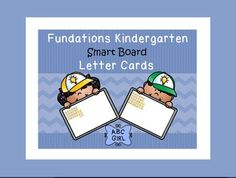 Fundations Kindergarten Smart Board letter cards. This SMART Board interactive notebook file contains 5 pages of letter card displays to correlate with the 5 units in the Fundations Kindergarten program. Each letter card will clone as you select and move it.