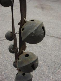 Antique Sleigh Bells Antique Jingle Bells Antique Leather Harness