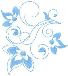 Decoration blue element free embroidery design. Machine embroidery design. www.embroideres.com