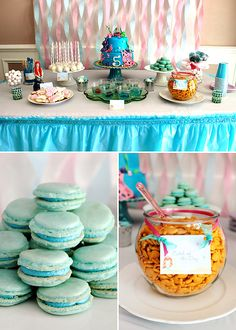Pink & Blue Mermaid Inspired Birthday Party