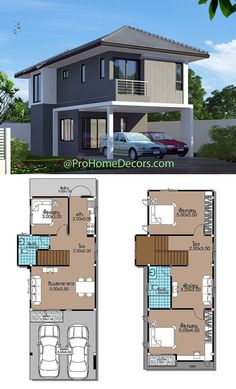 House Layout Design, Simple House Design, Villa Design, House Layouts, Small House Floor Plans, Bungalow House Plans, Dream House Plans, Best Small House Designs, Cute Small Houses