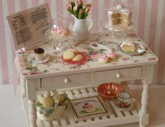 Hey, I found this really awesome Etsy listing at https://www.etsy.com/listing/71211662/miniature-bakery-table-reserved-for