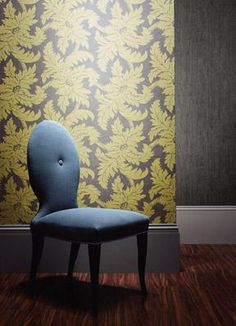 Welcome to the official home of Zoffany at Style Library. Zoffany is just one of the brands that make up the Style Library catalogue. Interior Color Schemes, Interior House Colors, Vinyl Wallpaper, Fabric Wallpaper, Yellow Grey Wallpaper, Green Lounge, Grey Yellow, New Room, Designer Wallpaper